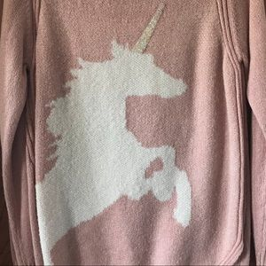 Pink Glitter Unicorn Sweater